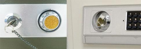 金庫の鍵を修理する
